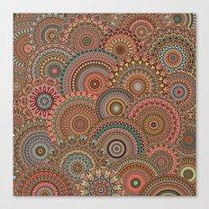 Mandala Mania-Vintage colors Canvas Print