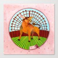 taurus Canvas Prints featuring Taurus by Sandra Nascimento