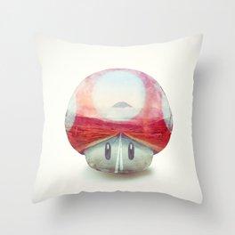 Mushroom - Kart Art Throw Pillow