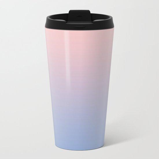 Rose Diamond / Quietude Gradient Colors Metal Travel Mug