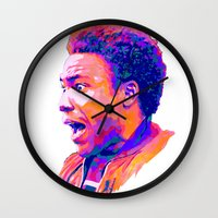 childish gambino Wall Clocks featuring CHILDISH GAMBINO // NEXTGEN RAPPERS by mergedvisible