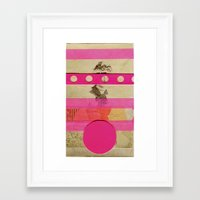 transistor Framed Art Prints featuring Fluo Transistor by Naomi Vona