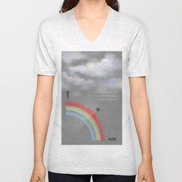 A quarter rainbow Unisex V-Neck