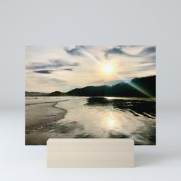 Luminous Sunrise Beach Mini Art Print