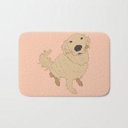 Golden Retriever Love Dog Illustrated Print Bath Mat