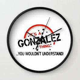 GONZALEZ Wall Clock