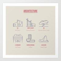 Architecture Line Design Art Print