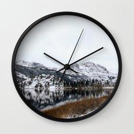 June Lake Mountains (landscape) Wall Clock