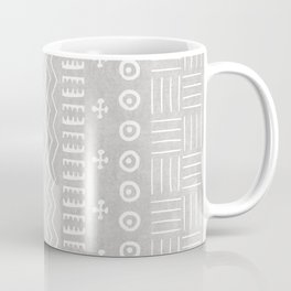 Funky African Mud Cloth in Grey Coffee Mug