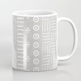 Funky African Mud Cloth in Grey Coffee Mug
