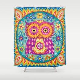 Owl Mandala Shower Curtain