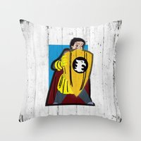 dungeons and dragons Throw Pillows featuring DUNGEONS & DRAGONS - ERIC by Zorio