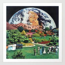 60:59:56 (Vast, lonely, forbidding) Art Print