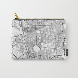 Teheran Map White Carry-All Pouch