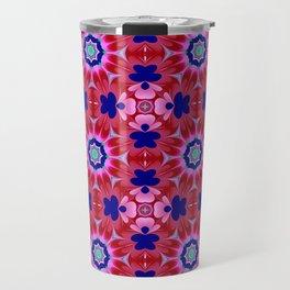Floral fantasy pattern design Travel Mug
