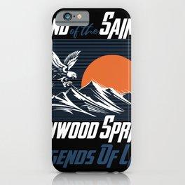 Land of the saints Glenwood Springs Legends of life mask Eagles iPhone Case