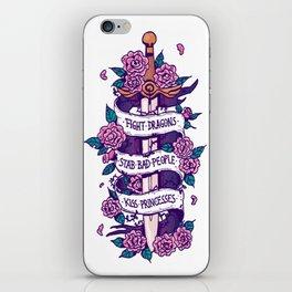 Sword & Roses iPhone Skin