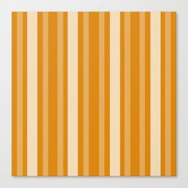 Marigold Victorian Lady Stripe Canvas Print