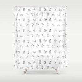 Bunnies pattern Shower Curtain