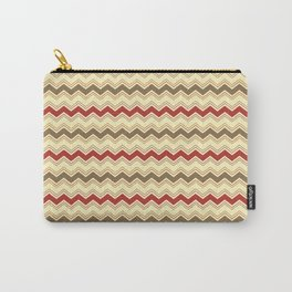 Cream Chevron Happy Night pattern Carry-All Pouch