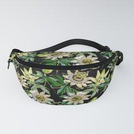 Vintage & Shabby Chic- Retro Passiflora Caerulea Pattern Fanny Pack