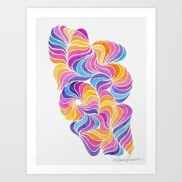 Pinwheels and Ponytails Art Print