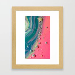 Cotton Candy Geode Bubble Galalxy Framed Art Print