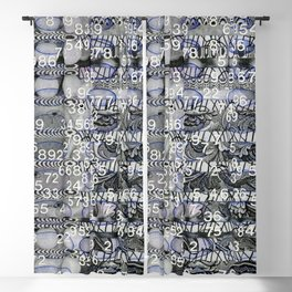 Post Digital Tendencies Emerge (P/D3 Glitch Collage Studies) Blackout Curtain