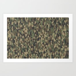Camouflage cats Art Print