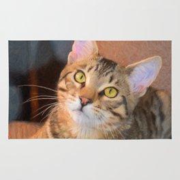 Cute Bengal Kitty Rug