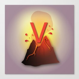 V is for Volcano Canvas Print