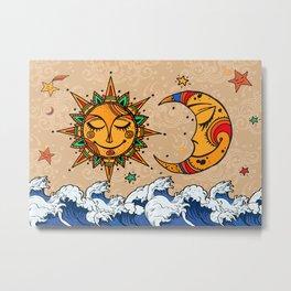 Sun God & Moon #4: Smile Metal Print