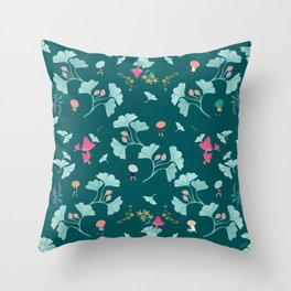 Ginkgo Midori Throw Pillow