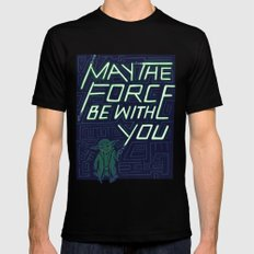 The Force Mens Fitted Tee Black MEDIUM