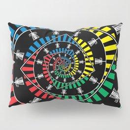 Spinning Disc Golf Baskets Pillow Sham