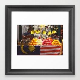 Fruit Stand, Kuala Lumpur Framed Art Print