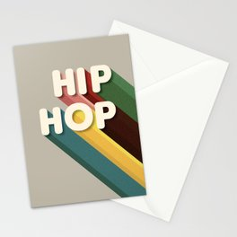 HIP HOP - typography Stationery Cards