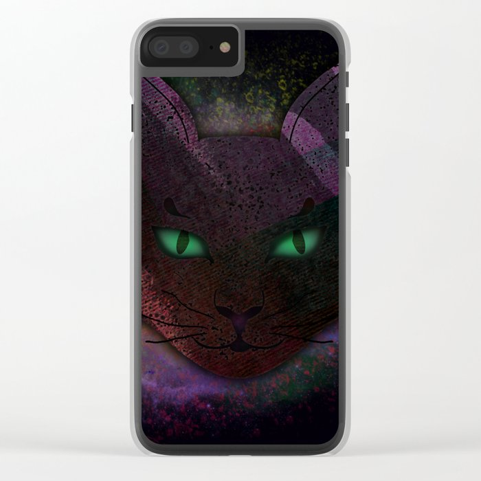 Watching Cat Clear iPhone Case