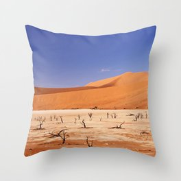 Amazing Deadvlei in Namibia Throw Pillow