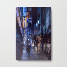 Tokyo Night Scene Metal Print
