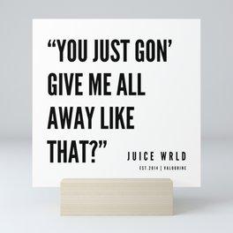 12    Juice WRLD Quotes   190608   White Mini Art Print