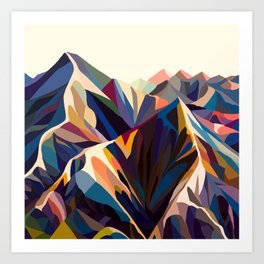 Mountains original Art Print