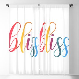 bliss quote typography Blackout Curtain