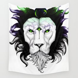 Trippy Lion Wall Tapestry