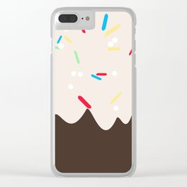 Hot chocolate with whipped cream and sprinkles Clear iPhone Case