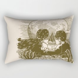 Love and Death At the Beach Rectangular Pillow