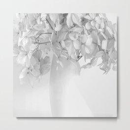 Hydrangea Still Life in Black and White #decor #society6 #buyart Metal Print