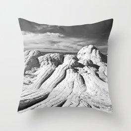 The Brain Rocks of White Pocket Throw Pillow