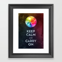 Keep Calm Framed Art Print