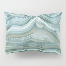 Agate Crystal Blue Pillow Sham